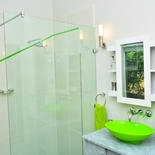 Ensuite shower, Green Monkey Orange, Boutique, Bushwillow  Collection