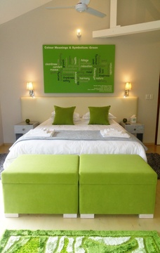 Green Bed View to Inside, Green Monkey Orange, Boutique, Bushwillow  Collection