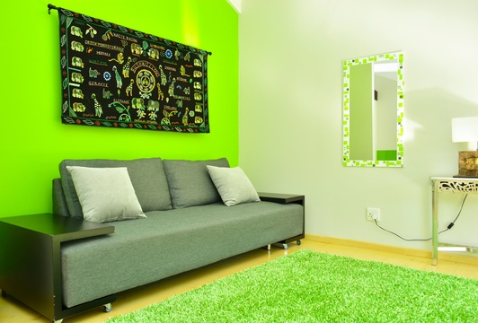 Green Couch and Tunga, Green Monkey Orange, Boutique, Bushwillow  Collection