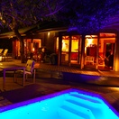 Lodge_main deck at night, Bushwillow Collection